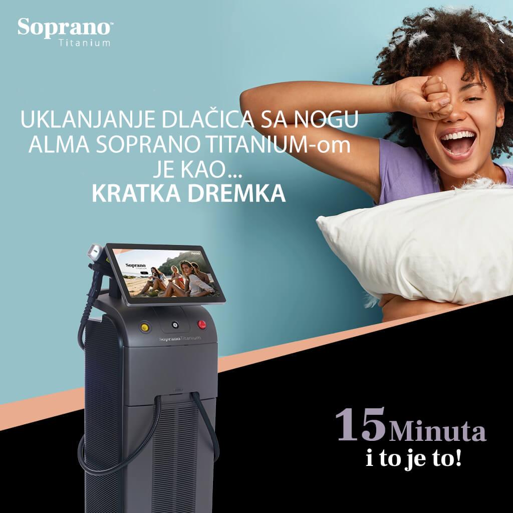 Laserska epilacija - Alma Soprano Titanium - Trajna epilacija laserom - Beograd 03