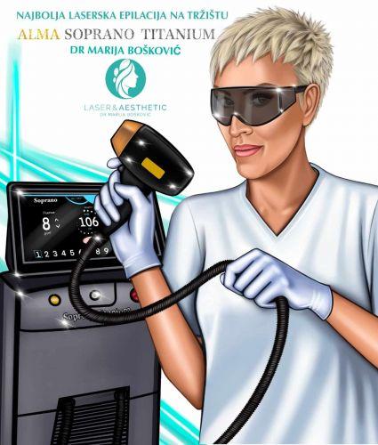 Laserska epilacija - Trajno uklanjanje dlaka - Alma Soprano Titanium 05